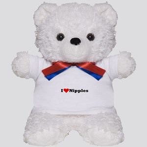 I Heart Nipples Black Teddy Bear