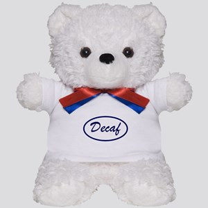 Decaf Name Patch Teddy Bear