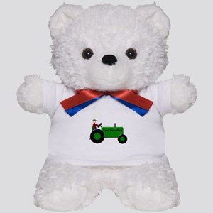 Personalized Green Tractor Teddy Bear