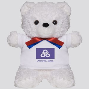 Okinawa JP Flag Teddy Bear