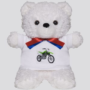 Green dirt bike Teddy Bear