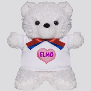 elmo heart Teddy Bear