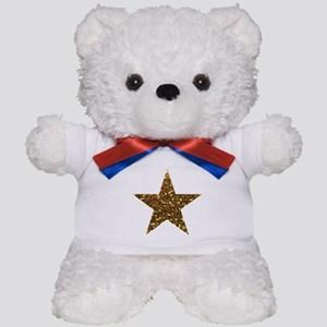 gold glitter star Teddy Bear