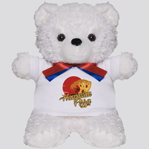 Hawaiian Pizza - Funny Beach Vacation J Teddy Bear