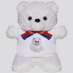 Cute white Persian Cat Teddy Bear