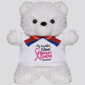 Mom Breast Cancer Teddy Bear
