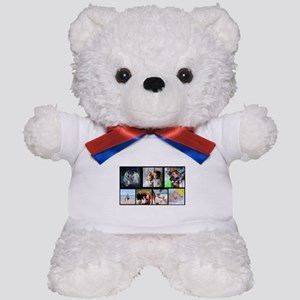 7 Photo Family Collage Teddy Bear