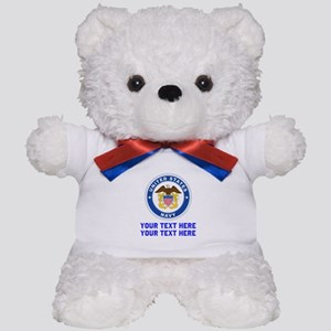 US Navy Sign Personalized Teddy Bear