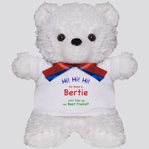 Hi! I'm Bertie Bear. Will You Be My Best Friend?