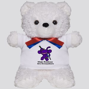 Lavender Claw Ninjas Everywhe Teddy Bear