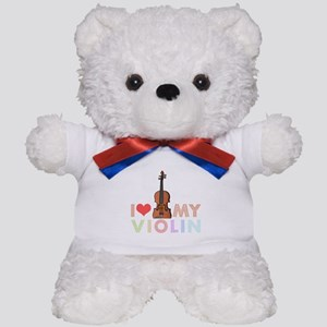 I Love My Violin Teddy Bear