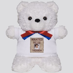 Pelosi - Wanted For Treason Teddy Bear