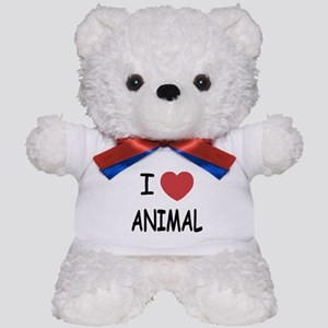 I heart Animal Teddy Bear