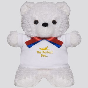 pilot airplane flying Teddy Bear