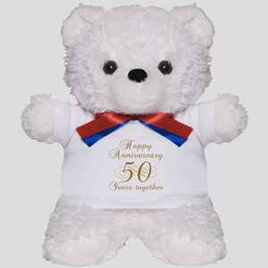 Stylish 50th Anniversary Teddy Bear