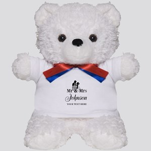 Personalized Mr and Mrs Teddy Bear