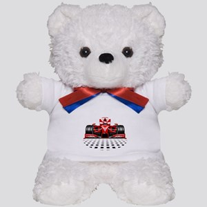 Formula 1 Red Race Car Teddy Bear