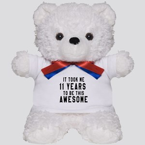 11 Years Birthday Designs Teddy Bear