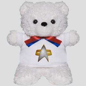 Distressed Starfleet Comm Badge Teddy Bear