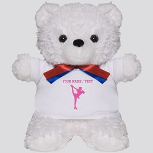 Pink Figure Skate Silhouette (Custom) Teddy Bear