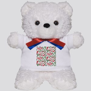 Merry Christmas Joy Stockings Teddy Bear