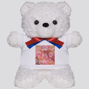 rose,cher,kara,liebe,love,pink,purple,w Teddy Bear