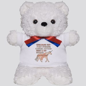 Unicorns Support Uterine Cancer Awarene Teddy Bear