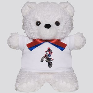 Red Dirt Bike Teddy Bear