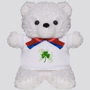 St Paddys Day Fancy Shamrock Teddy Bear