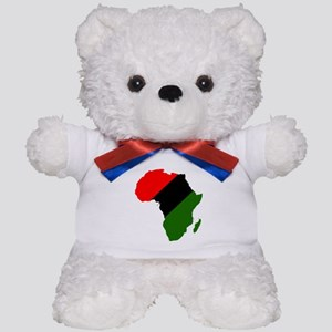 Africa - Red, Black and Green Teddy Bear