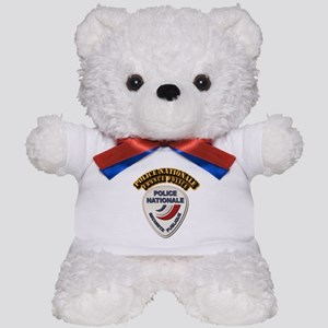Police Nationale France Police with Tex Teddy Bear
