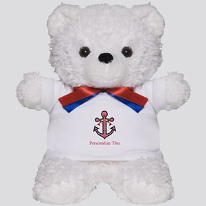Personalized Nautical Anchor Teddy Bear