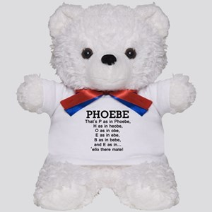 'P as in Phoebe' Teddy Bear