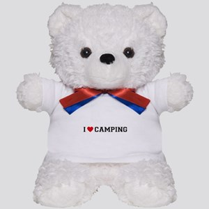 I Love Camping Teddy Bear