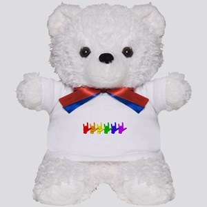 I love you - colorful Teddy Bear