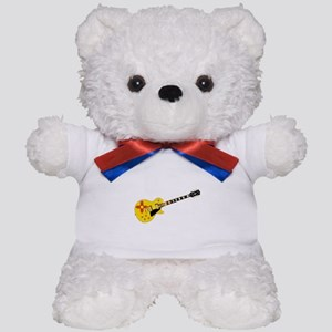 New Mexico State Flag Guitar Teddy Bear
