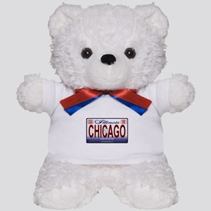 Chicago License Plate Teddy Bear