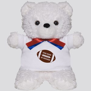 YOUR NAME Football Teddy Bear