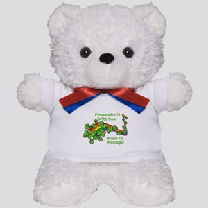 PERSONALIZED Rainbow And Shamrocks Teddy Bear