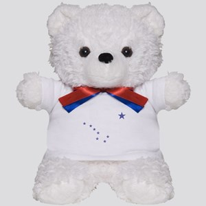 Faded Alaska State Flag Teddy Bear