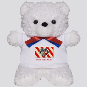 North Pole AK Flag Teddy Bear
