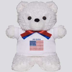 JEB BUSH (Vintage flag) Teddy Bear
