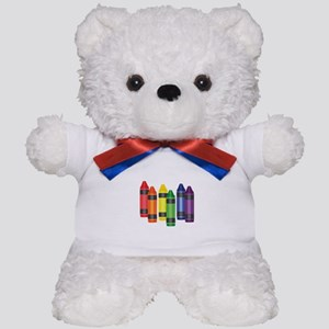 Crayons Teddy Bear