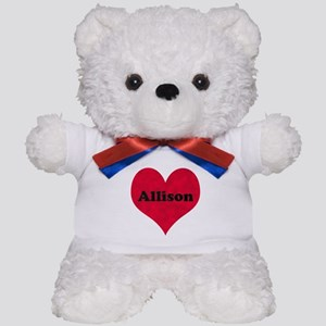 Allison Leather Heart Teddy Bear