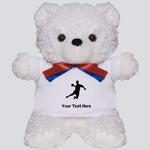 Dodgeball Player Silhouette Teddy Bear
