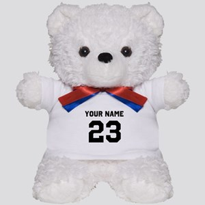 Customize sports jersey number Teddy Bear