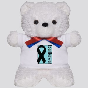 Light Blue (Believe) Ribbon Teddy Bear