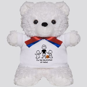 Big Brother of Twins - Stick Characters Teddy Bear
