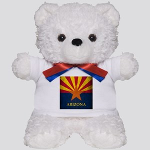 Grunge Arizona Flag Teddy Bear
