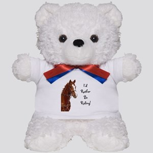 Id Rather Be Riding! Horse Teddy Bear